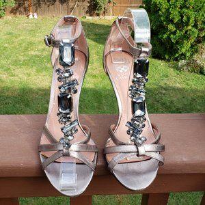 VINCE CAMUTO Bling Ankle Straps Sandals Sz 8.5 EUC
